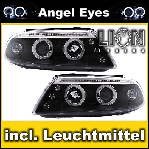 klarglas angel eyes scheinwerfer set vw passat 3bg b5 gp. Black Bedroom Furniture Sets. Home Design Ideas